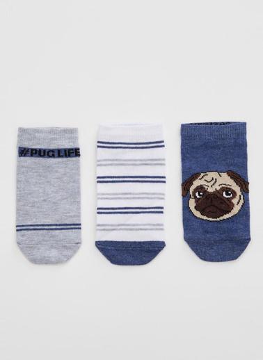 DeFacto 3'lü Çorap Mavi